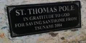 Plaque on the St. Thomas Pole