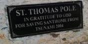 Plaque on the St. Thomas Pole