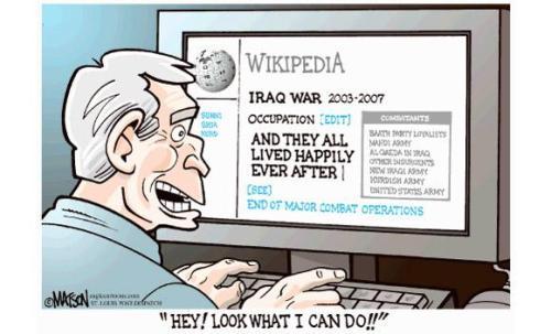 Bush edits Wikipedia!