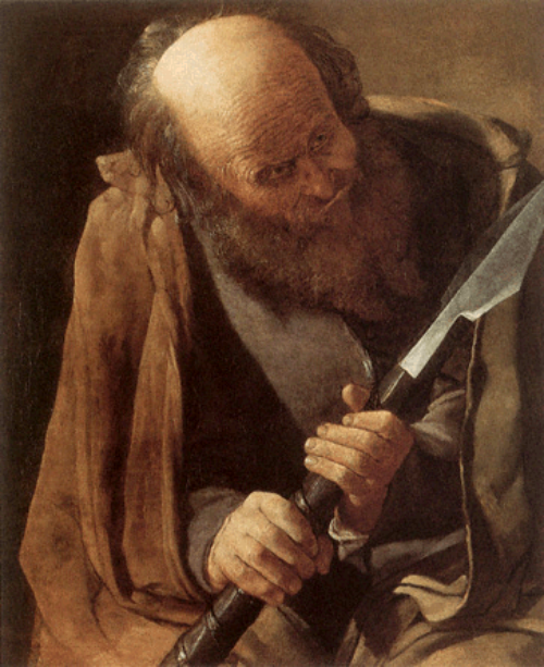 St. Thomas by Georges de LaTour (ca. 17th century).
