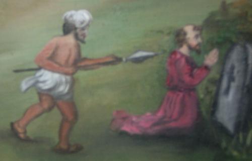 St. Thomas and his Hindu assassin