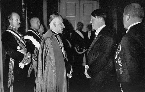 Papal Nuncio Cesare Orsenigo & Adolf Hitler