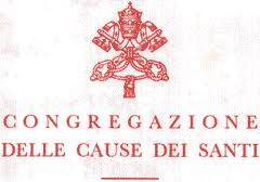 Vatican letterhead for the Congregation for the Causes of Saints.