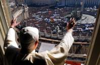 Pope Benedict overlooking St. Peter's Square.