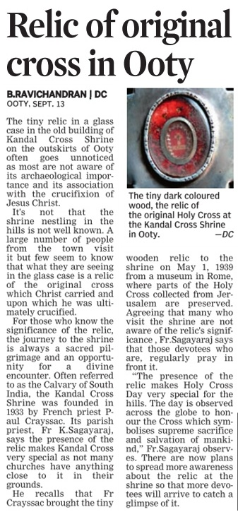 True cross relic Ooty