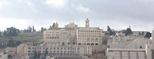 Bethlehem and the spires of the Church of Nativity
