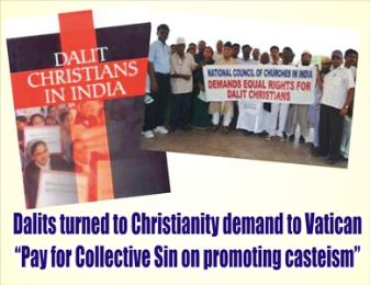 Dalit Christians demonstrate against caste discrimination in the Church
