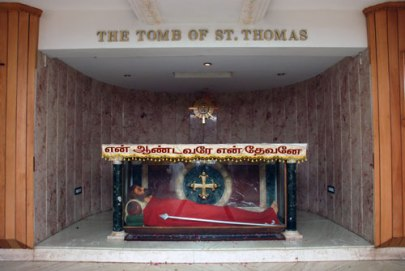 The fake tomb of St Thomas in San Thome Cathedral, Mylapore, created by the Portuguese