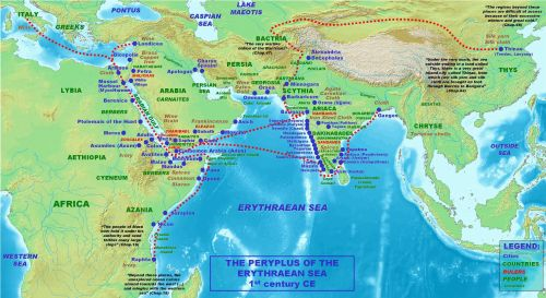 Map of places mentioned in the Periplus