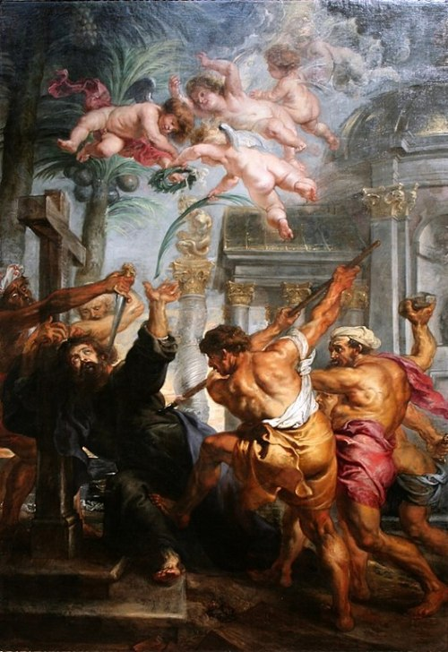 Martyrdom of St. Thomas by Peter Paul Rubens (1636-38)