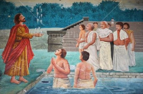 St. Thomas makes the Sandhyavandanam water offering of the Namboothiri Brahmins stand in the air.