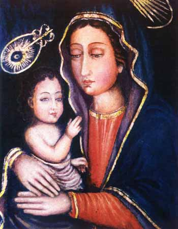 Icon of Mary and Baby Jesus on St. Thomas Mount