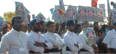 Sri Lankan Catholic priests supporting LTTE leader Prabhakaran