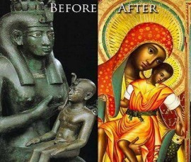 Isis & Horus becomes Mary & Jesus