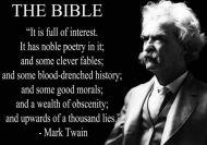 Mark Twain Says ...