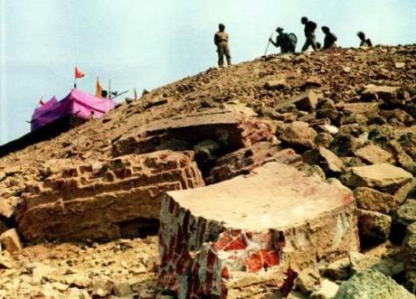 Temporary Ram temple on the disputed Babri masjid site in Ayodhya.