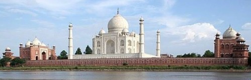 Taj Mahal as seen from the Yamuna