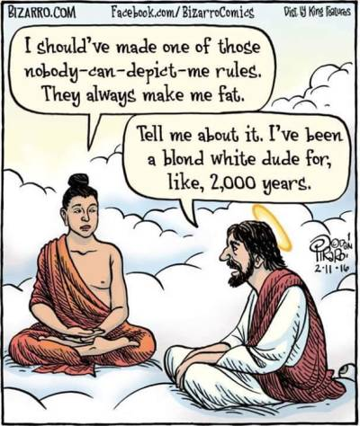 Buddha & Jesus Cartoon