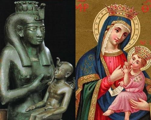 Isis-Horus & Mary-Jesus