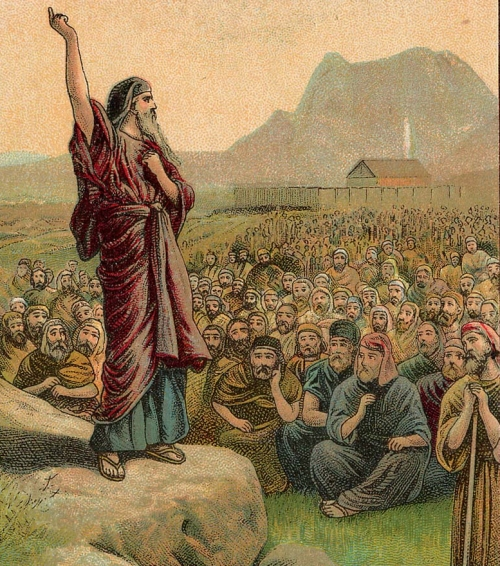Moses leads the Israelites out of Egypt.