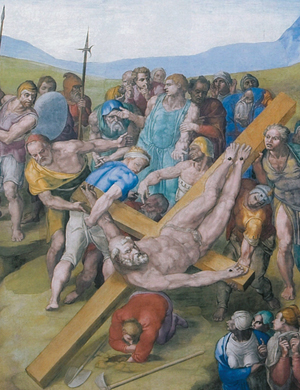 Crucifixion of St. Peter by Michelangelo