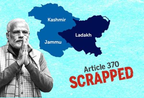 Article 370 re Kashmir Scrapped