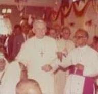 Pope John-Paul II & Archbishop Arulappa (1986)
