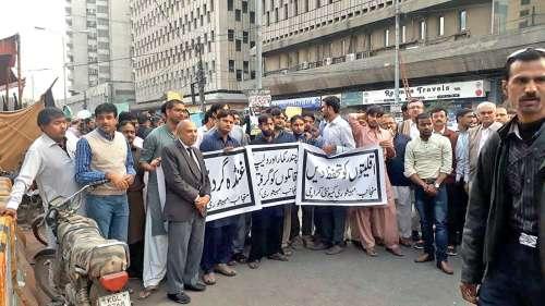 Hindu protest in Mithi, Pakistan.